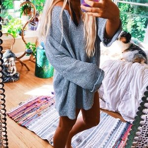 Sweaters - Estelle Milly Grey Gris Chunky Oversized Knit